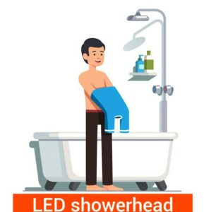 best led light up shower