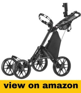 CaddyTek One-Click Folding 4 Wheel Version 3 Golf Cart