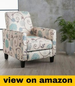 Floral Fabric Recliner