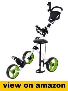 Tangkula swivel 3 wheel push pull cart