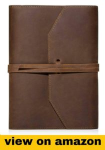 Leather Journal Refillable Notebook.