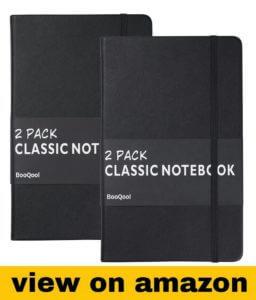 BooQool 2 Pack Classic Ruled Notebooks