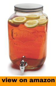 Cicleware Yorkshire Mason Jar Beverage Drinkwith Metal Stand