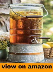 Anchor Hocking Heritage Hill Glass Beverage Dispenser with Spigot