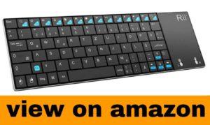 Rii Mini K12 Stainless Steel Cover Wireless Keyboard