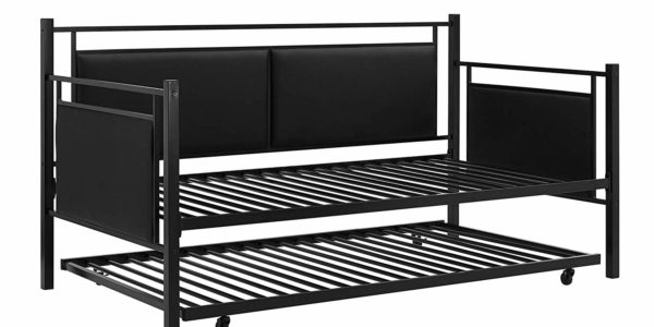 DHP Astoria Metal and Upholstered Daybed and Trundle 3