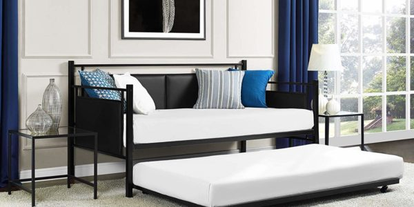 DHP Astoria Metal and Upholstered Daybed and Trundle