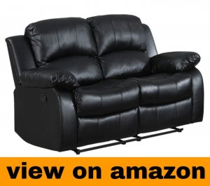 Homelegance Resonance 60″ Bonded Leather Double Reclining Loveseat