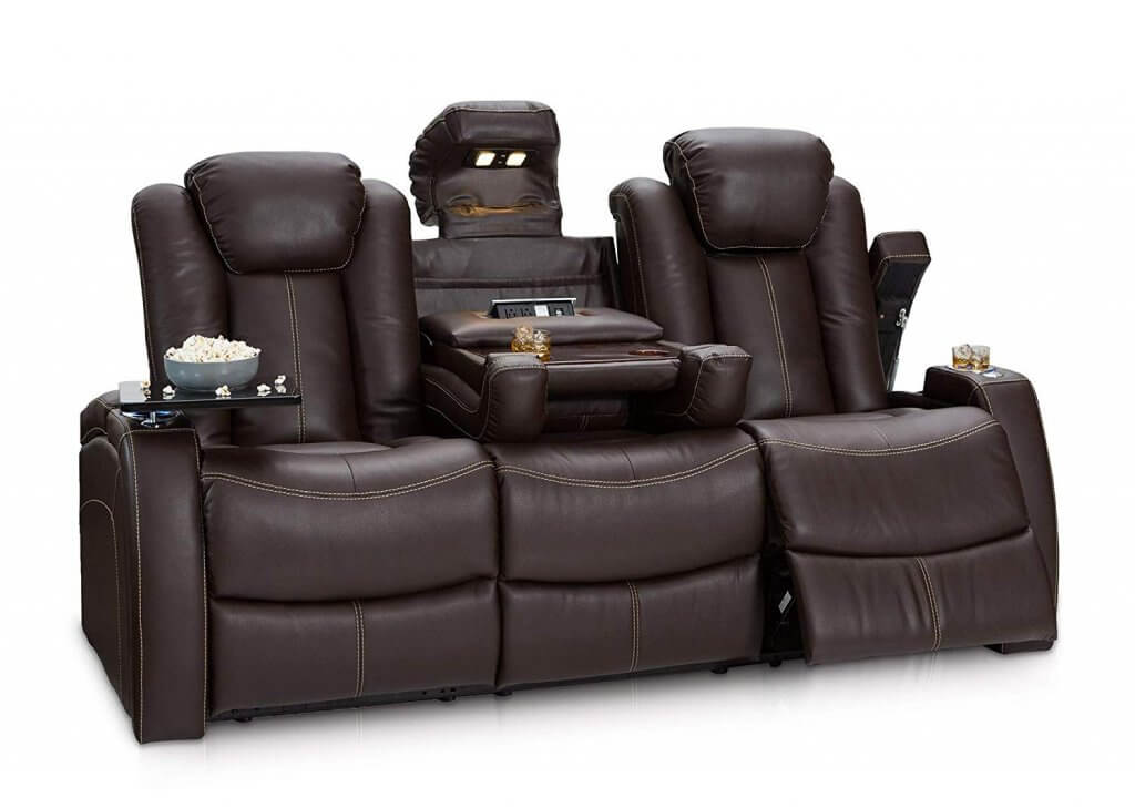 Seatcraft Omega Home Theater Seating Leather Gel Recliner Sofa