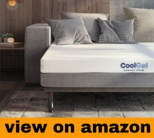 Classic Brands 4.5-Inch Cool Gel Memory Foam Replacement Mattress for Sleeper Sofa Bed