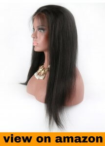 Eayon Hair 6A Virgin Hair Full Lace Wig Brazilian Remy Human Hair