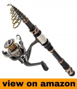 PLUSINNO Carbon Fiber Telescopic Fishing Rod Combo