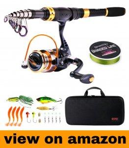 Sougayilang Portable Telescopic FishingRod and Reel Combos