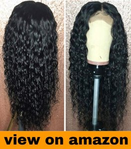 YMS Water Wave Lace Front Wigs Human Hair Pre Plucked with Baby Hair