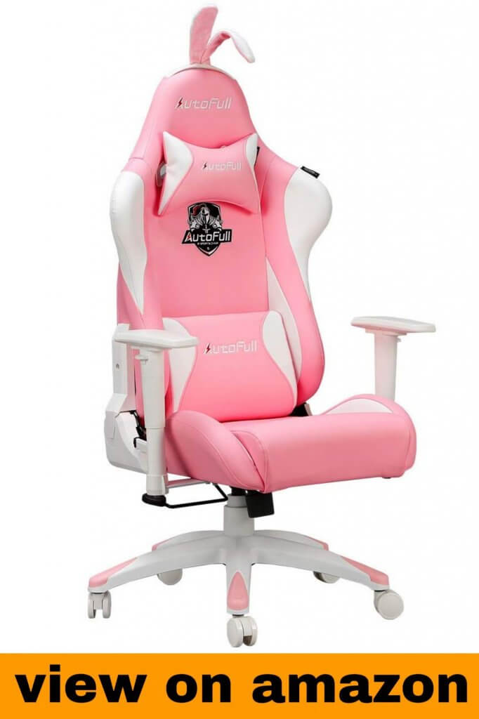 AutoFull Kawaii Pink Gaming Chair