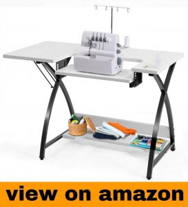 Costway Sewing Machine Table with Adjustable Platform Folding Side Shelf
