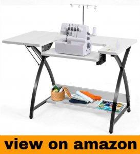 Costway Sewing Machine Table with Adjustable Platform Folding Side Shelf