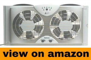 Holmes Dual 8″ Blade Twin Window Fan with LED One Touch Thermostat Control
