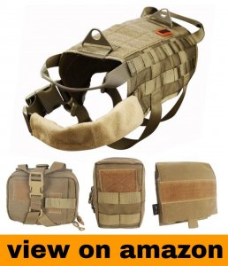 OneTigris Tactical Dog Molle Vest Harness & Training Dog Vest with Pouches