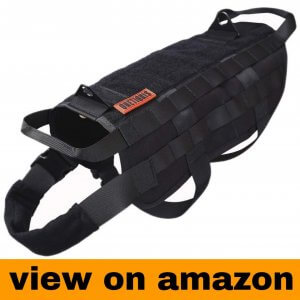 OneTigris Tactical Dog Training Vest Harness with Mesh Padding and Two Handles