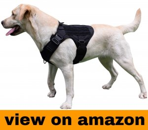 SHI RUI Tactical Military K9 Dog Harness Sleuth Police Dog Vest