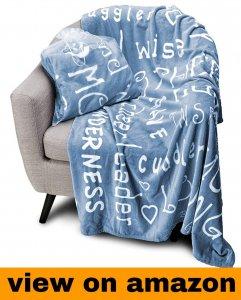 Blankiegram Mother Throw Blanket for Loving, Kind & Inspiring Moms