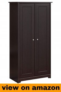 Bush Furniture Cabot Tall Storage Cabinet with Doors in Espresso Oak