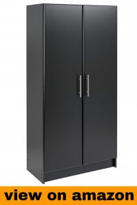Prepac WEB-1664 Elite Storage Cabinet, 32″, Black