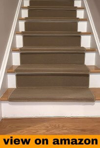 Purhome Bullnose Indoor Skid Slip Resistant Carpet Stair Treads
