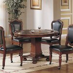 Sunset Trading 5 Piece Bellagio dining-game-table-set, Reversible Poker Top with Cup Holders
