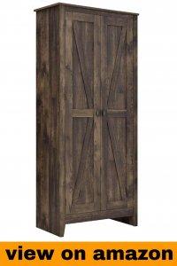 SystemBuild Farmington 31.5″ Wide Storage Cabinet, Rustic