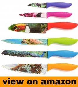 Wildlife Kitchen Knife Set in Gift Box