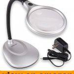 Carson DeskBrite200 LED Lighted 2x Magnifier and Desk Lamp