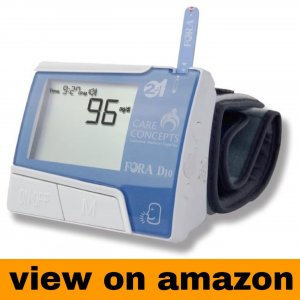 FORA D10 2-in-1 Blood Glucose and Wrist Blood Pressure Monitor