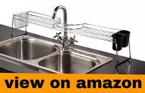 Home Basics Over The Sink Chrome Shelf