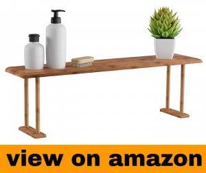 Lavish Home Bamboo Sink Shelf-Countertop Organizer for Kitchen, Bathroom Bedroom